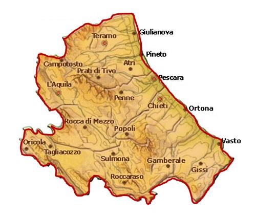 Abruzzo DOC - mappa
