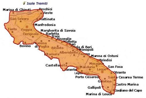 Aleatico di Puglia DOC area