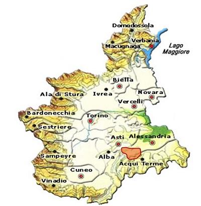 Asti DOCG o Moscato d'Asti DOCG area