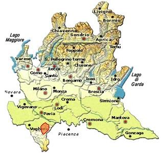 Buttafuoco dell'Oltrepò pavese DOC area