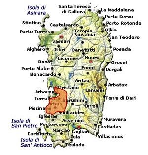 Campidano di Terralba DOC area