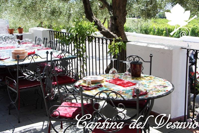 Cantina del Vesuvio - Tavoli per il pranzo