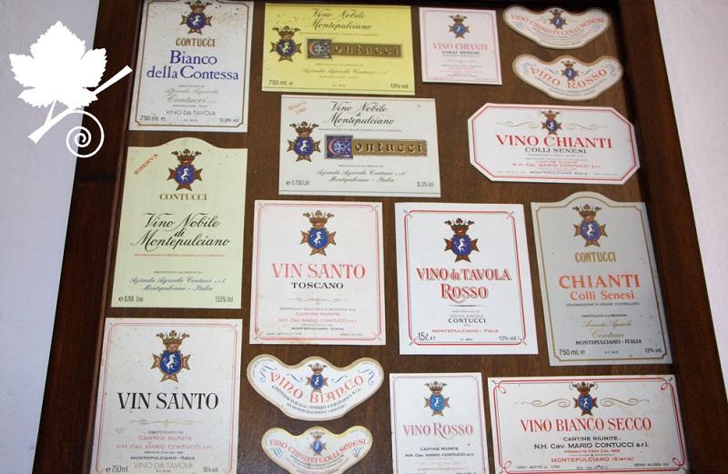 Cantine Contucci - vecchie etichette di vino