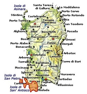 Carignano del Sulcis DOC area