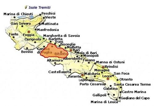 Castel del Monte Bombino Nero DOCG area