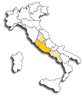 Cesanese comune - area di diffusione del vitigno