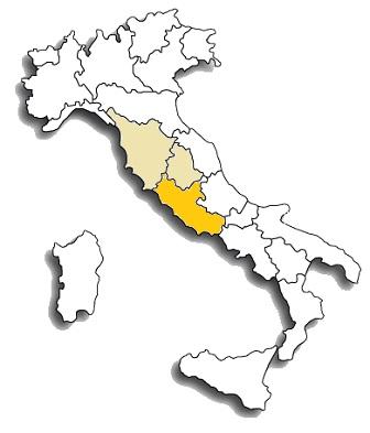 Cesanese di Affile - area di diffusione del vitigno