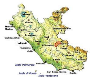 Cesanese di Olevano Romano DOC area