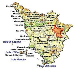 Chianti Colli Aretini DOCG area