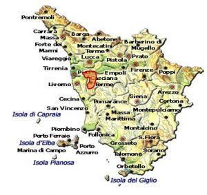 Chianti Colline Pisane DOCG area