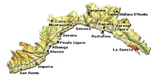 Cinque Terre DOC o Sciacchetra DOC area