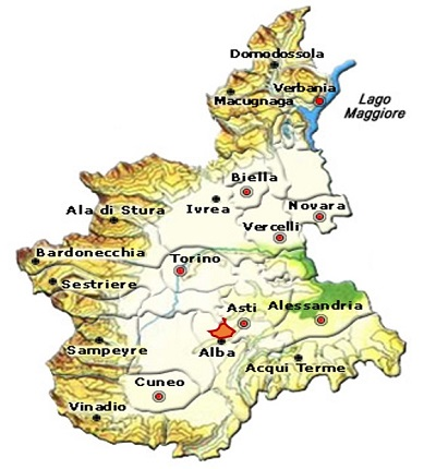 Cisterna d'Asti DOC area