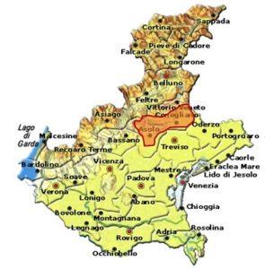 Colli Asolani Prosecco DOCG area