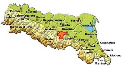 Colli Bolognesi Classico-Pignoletto DOCG area