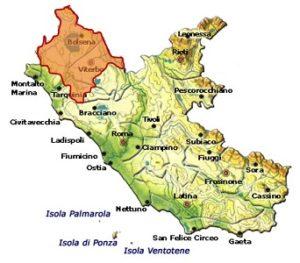 Colli Etruschi Viterbesi DOC o Tuscia DOC area