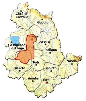 Colli Perugini DOC area