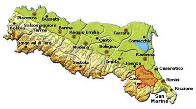 Colli della Romagna Centrale DOC area