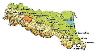 Colli di Parma DOC area