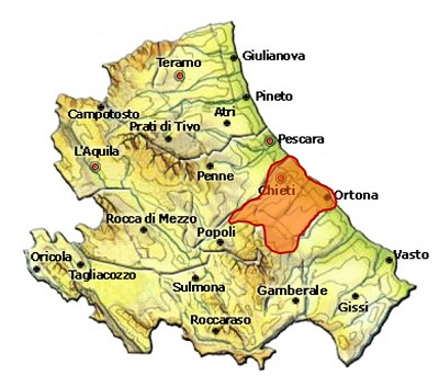 Colline Teatine IGP - mappa