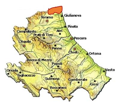 Controguerra DOC - mappa