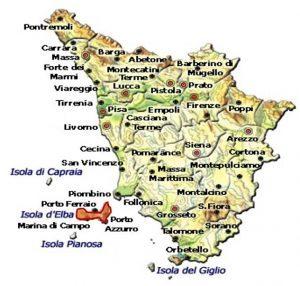Elba Aleatico Passito DOCG - area