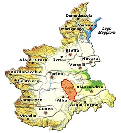 Freisa d'Asti DOC area