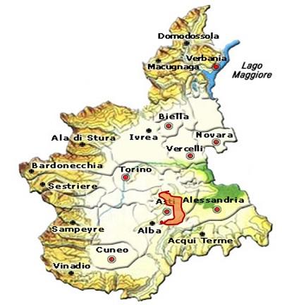 Grignolino d'Asti DOC area
