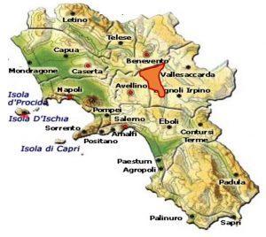 Irpinia DOC sottozona Campi Taurasini area