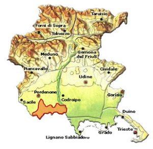 Lison DOCG area Friuli