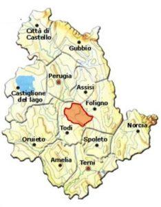 Montefalco Sagrantino DOCG area