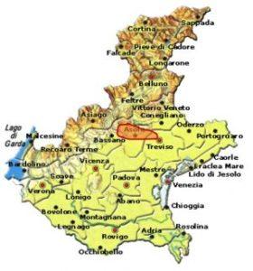 Montello Rosso DOCG area