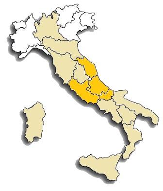 Montepulciano - area di diffusione