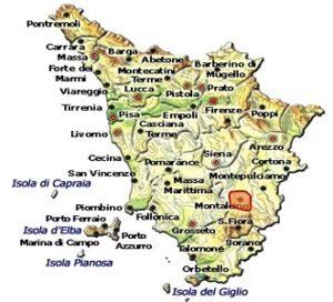 Moscadello di Montalcino DOC area