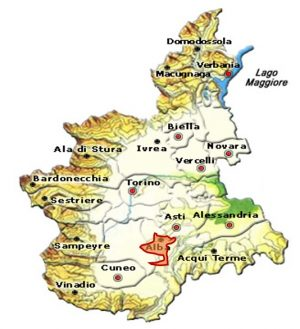 Nebbiolo d'Alba DOC area
