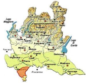 Oltrepò Pavese Pinot Grigio DOC area