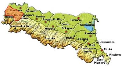 Ortrugo dei Colli Piacentini DOC area