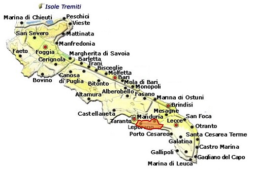 Primitivo di Manduria DOC area