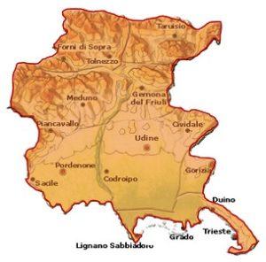 Prosecco DOC area Friuli