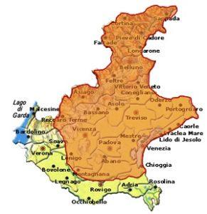 Prosecco DOC area Veneto