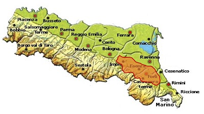 Romagna Albana DOCG area