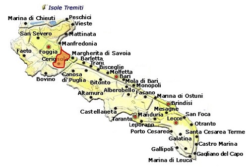 Rosso di Cerignola DOC area