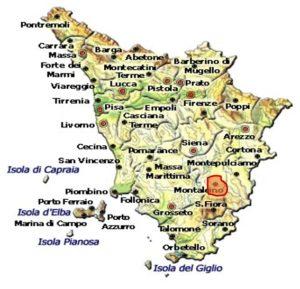 Rosso di Montalcino DOC area