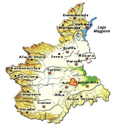 Ruchè di Castagnole di Monferrato DOCG area