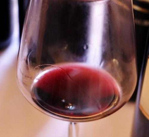 Sagrantino di Montefalco DOCG calice di vino rosso