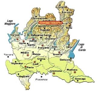 Sforzato di Valtellina DOCG area