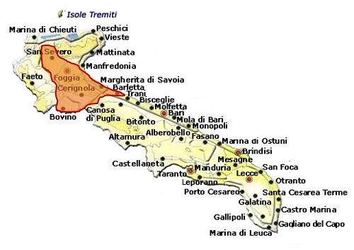 Tavoliere della Puglia DOC area