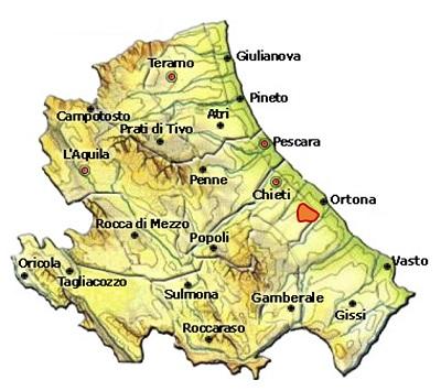 Terre Tollesi DOC o Tullum DOC - mappa
