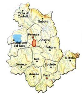 Torgiano Rosso Riserva DOCG area