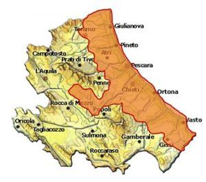 Trebbiano d'Abruzzo DOC area