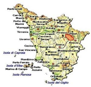 Val d'Arno di Sopra DOC area